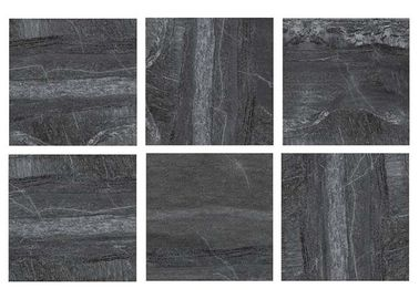 "36 "" X 36 "" Stone Look Wall Tiles , Black Stone Look Floor Tile Hotel Building Materials"
