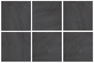 "18 "" X 18 "" Stone Ceramic Tiles Charcoal Non - Rectified Chemical Resistance"