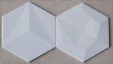 China 200*230mm Hexagon Ceramic Tiles Pure Color Matte Surface Not Slippery factory