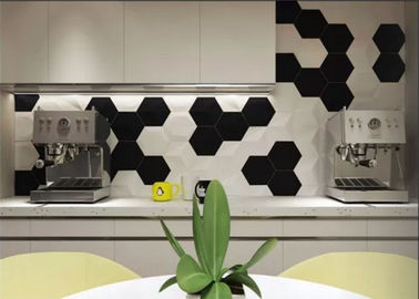 China Various Colors Hexagon Kitchen Wall Tiles Easy To Install Anti - Dust factory