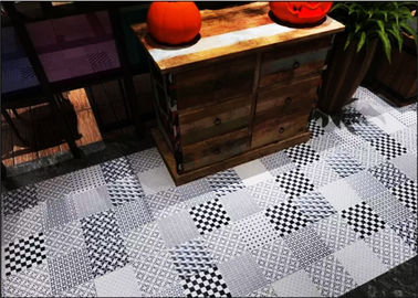 China 200*200 Hexagon Decorative Ceramic Tile Dark Grey Blue Color 1-3% Water Absorption factory