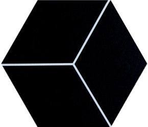 China Tiny Shapes Black And White Hex Tile , Hexagon Bathroom Floor Tile Non Slip factory