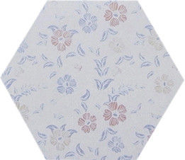 China Flowers Design Hexagon Ceramic Tiles Wall Tile Neatly Structured High Density factory