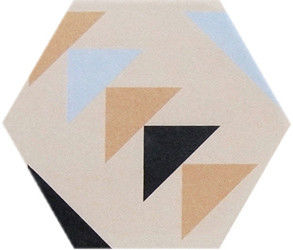 China Geometric Figure Design Hexagon Ceramic Tiles Modern Style 200 X 230 MM factory